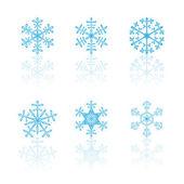 Snowflake set — Cтоковый вектор