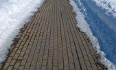 Block road in winter — Stock Photo