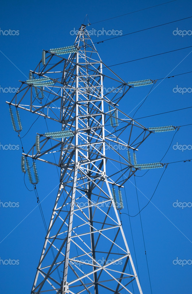 High voltage electric pillar  Stock Photo #2443821