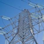 High-voltage line — Stock Photo