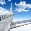 飞行的飞机 — 图库照片