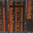 Airport flight board information — Stock Photo