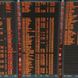 Stock Photo: Airport flight board information