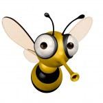 Funny bee — Stock Photo