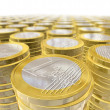 One euro coins — Stock Photo