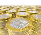 One euro coins — Stock Photo