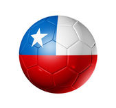 Soccer football ball with Chile flag — Stock Photo