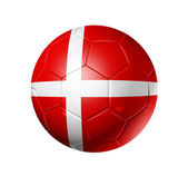 Soccer football ball with Denmark flag — Stock Photo