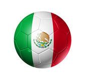 Soccer football ball with Mexico flag — Stock Photo