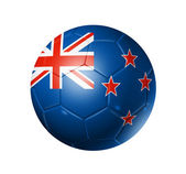 Soccer football ball with New Zealand fl — Stock Photo