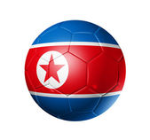 Soccer football ball with north Korea fl — Stock Photo