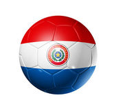 Soccer football ball with Paraguay flag — Stock Photo