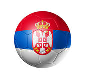 Soccer football ball with Serbia flag — Stock Photo