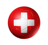 Soccer football ball with Switzerland fl — Stock Photo