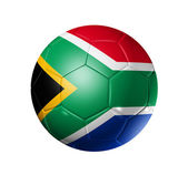 Soccer football ball with south africa f — Stock Photo