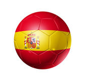 Soccer football ball with Spain flag — Stock Photo