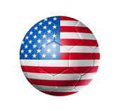 Soccer football ball with USA flag — Stock Photo