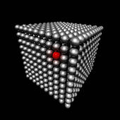 Cube made of small spheres — Stock Photo
