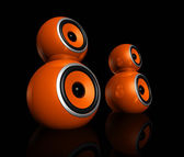 Orange speaker balls — Stock Photo
