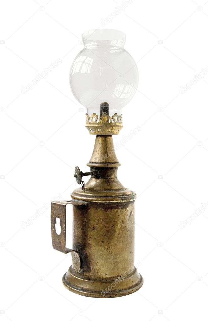 Old vintage glass oil lamp — Stock Photo #2071700