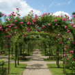 Pergola in a french garden - Stock Photo