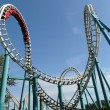 Rollercoaster in amusement park - Foto Stock