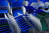 Piled chairs outdoor — Stock Photo