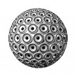 Stock Photo: Speakers sphere