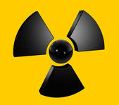 3D radioactive symbol — Stock Photo