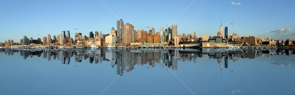 Manhattan panoramic Skyline, New York city — Foto Stock #2105907
