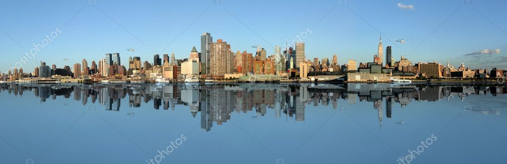 Manhattan panoramic Skyline, New York city — Foto de Stock   #2105907