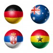Stock Photo: Soccer world cup group D flags on soccer