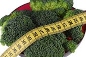 Broccoli and diet — Stock Photo