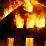 Burning house — Stock Photo