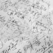 A Background image made of hand written mathematical formulas — Stock Photo #2088244