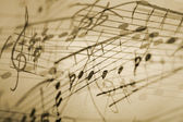 Musical notation background — Stock Photo