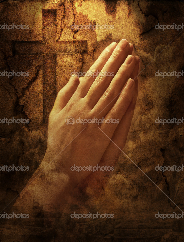Hands clasped in prayer — Stock Photo #2088705