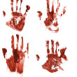 Stock Photo: Bloody handprints