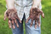 Mani sporche — Foto Stock