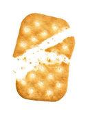 Cracked Cracker — Stock Photo