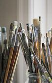 Artist's brushes — Stock Photo
