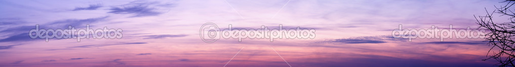Panoramic image of a beautiful twilight sky, made of 10 stitched images — Stock Photo #2683224