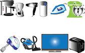 Home appliances collection — Stock Vector
