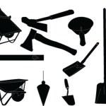 Mason equipment collection — Stock Vector