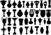 花瓶やカップのコレクション — ストックベクタ