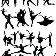 Ballet silhouette collection - vector - Stock Vector