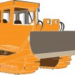 Stock Vector: Bulldozer