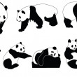 Panda collection — Image vectorielle