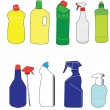 Stock Vector: Packaging bottle collection