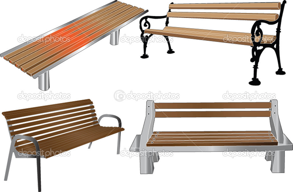 bench illustration - vector — Stock Vector #2111197